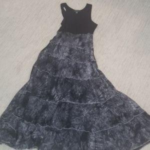 Karen Kane Black / Gray Maxi Dress sz L